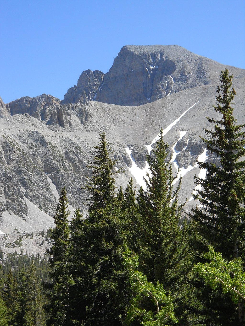 Wheeler Peak, the only significant peak I have climbed this year. Photo courtesy Charles Young 2012.