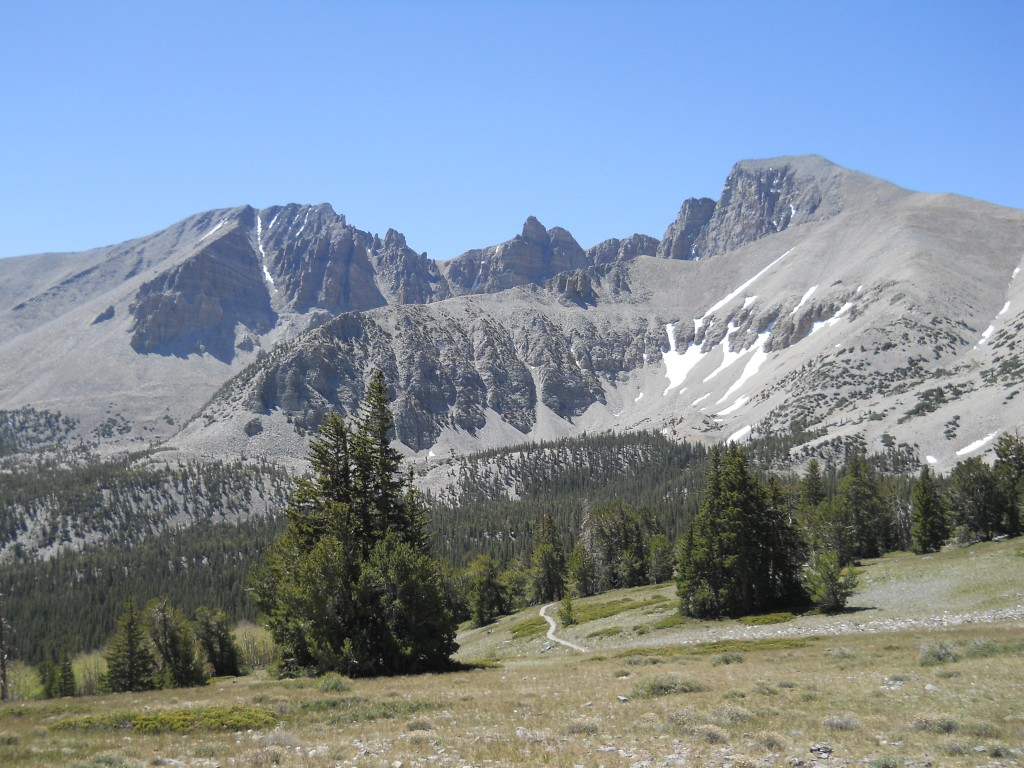 Wheeler Peak is the rounded peak on the right.